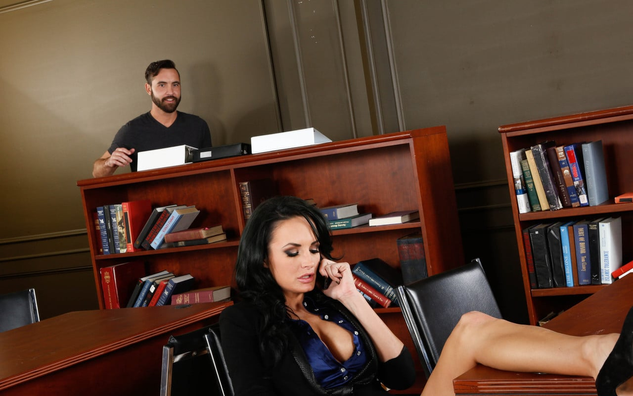 Hot secretary calling for library porn